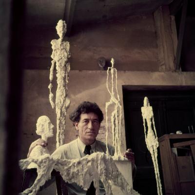Portrait of Alberto Giacometti in His Studio
