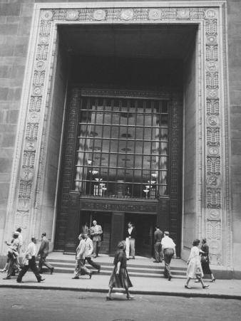 The Main Entrance to the Chase Manhattan Bank