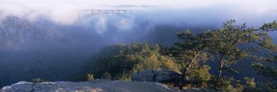 Clouds over a Bridge, New River Gorge Bridge, Fayetteville, West Virginia, USA