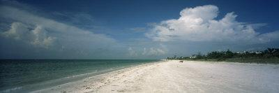 Clouds over the Beach, Lighthouse Beach, Sanibel Island, Fort Myers, Florida, USA
