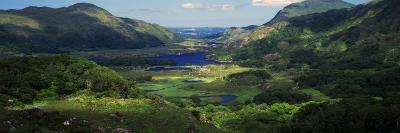 Birds-Eye View of River Through Mountain Landscape, Killarney National Park, Ireland