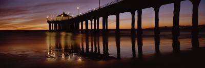 View of a Pier, Manhattan Beach Pier, Manhattan Beach, Los Angeles County, California, USA