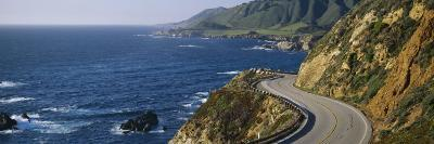View of a Highway, California State Route 1, Big Sur, California, USA