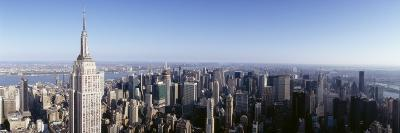 Aerial View of a Cityscape, Empire State Building, Manhattan, New York City, New York State, USA
