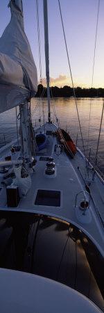 Sailboat in the Sea, Kingdom of Tonga,Vava'u Group of Islands, South Pacific