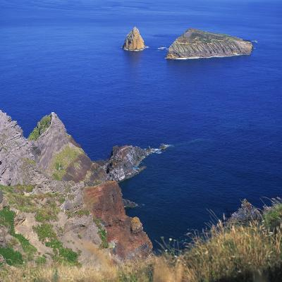 Rock Formations on the Volcanic Coastline on the Island of Graciosa in the Azores, Portugal
