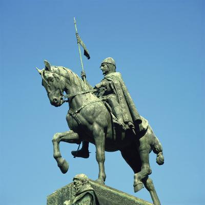 St. Vaclav, Wenceslas Square, Prague, Czech Republic, Europe