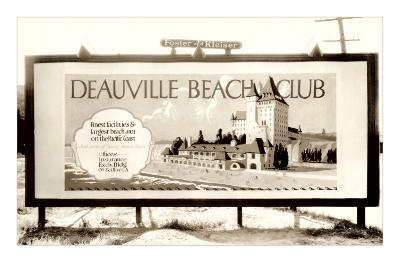 Deauville Beach Club Billboard