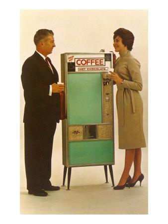 Standing by the Coffee Vending Machine