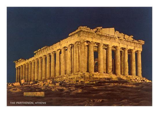 Parthenon at Night, Acropolis Posters at AllPosters.com