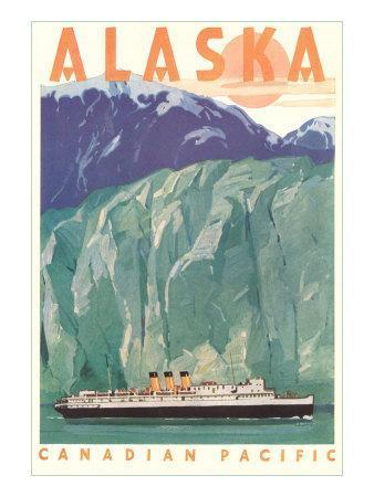 Cruise Liner by Alaskan Glacier