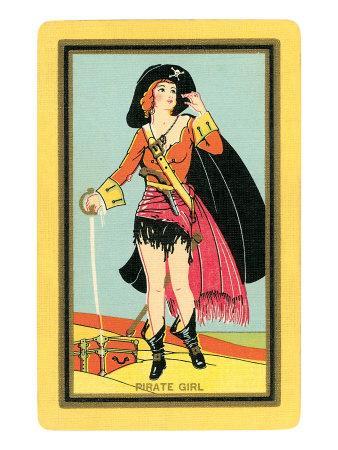 Pirate Girl Card