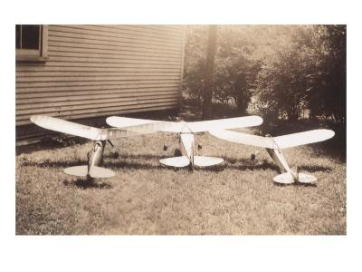 Three Model Airplanes