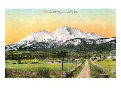 Sunrise, Mt. Shasta, California