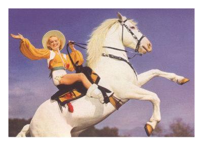 Bare-Legged Horsewoman
