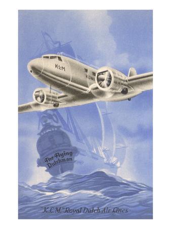 Flying Dutchman Ship with Klm Plane