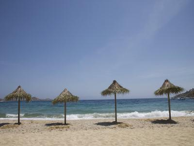 Beach of Psaurous, Mykonos, Cyclades Islands, Greek Islands, Greece, Europe