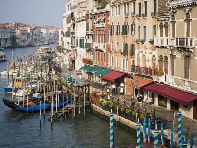 View of Grand Canal and Riva Del Vin from Rialto Bridge, Venice, Veneto, Italy