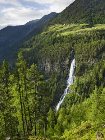 Stuibenfall, Tryols Highest Waterfall, Near Umhausen, Otztal Valley, Tyrol, Austria