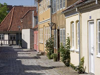 Overgade and Nedergate, Area Where Hans Christian Andersen Was Born, Odense, Funen, Denmark