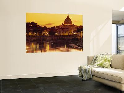 St Peter's Basilica and Ponte Saint Angelo, Rome, Italy