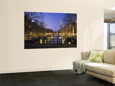 Prinsengracht and Wsterkerk, Amsterdam, Holland
