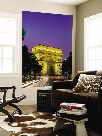 Arc de Triomphe, Night View, Paris, France