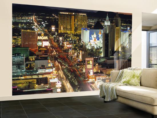 The Strip Las Vegas Nevada Usa Wall Mural Large By