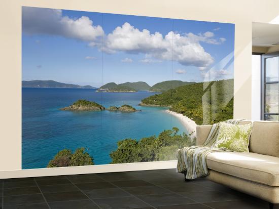 Caribbean Us Virgin Islands St John Beach At Trunk Bay