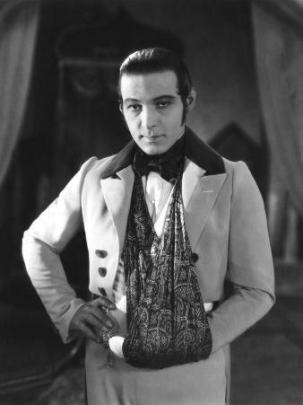 The Eagle, Rudolph Valentino, On-Set with His Arm in a Sling after an Automobile Accident, 1925