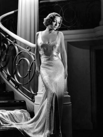 I Live My Life, Joan Crawford Wearing Evening Gown Designed by Adrian, 1935