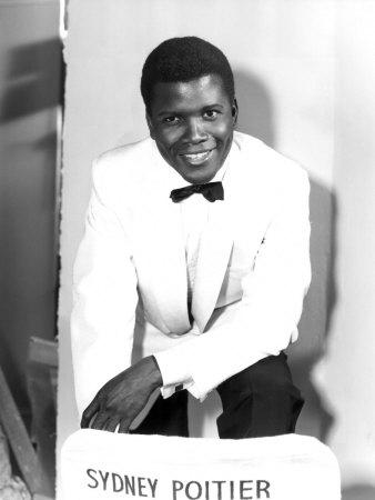 The Mark of the Hawk, Sidney Poitier at Elstree Studios, UK, January 1957