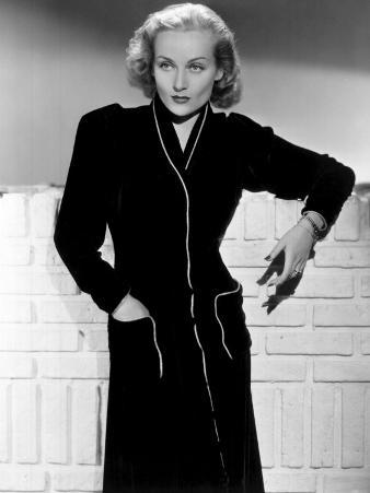 Carole Lombard, Wearing a Black Dress, 1930's