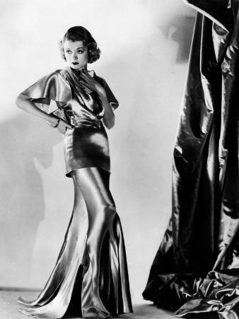 Constance Bennett in Evening Gown by Designer Adrian, 1935