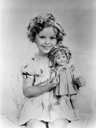 Shirley Temple with a Shirley Temple Doll, c.1936