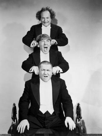 The Three Stooges, Larry Fine, Moe Howard, Curly Howard