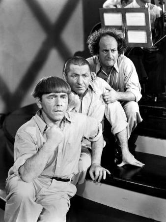 The Three Stooges, Moe Howard, Curly Howard, Larry Fine, c.1940s