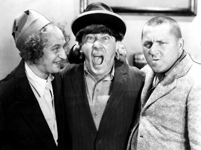 The Three Stooges, Larry Fine, Moe Howard, Curly Howard, c.1943