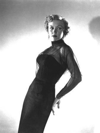 In a Lonely Place, Gloria Grahame, in a Gown by Jean Louis, 1950