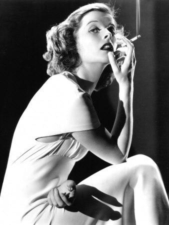 Katharine Hepburn Smoking, 1930s