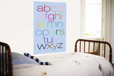 Blue Rainbow Alphabet