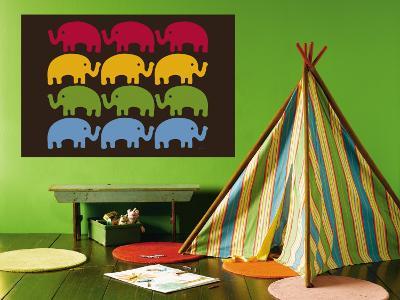 Brown Elephant Family