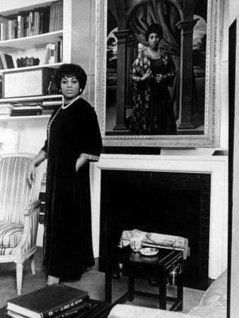 Leontyne Price, American Opera Singer, at Home, 1967