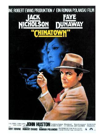 Chinatown, Faye Dunaway, Jack Nicholson, 1974