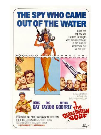 The Glass Bottom Boat, with Edward Andrews, Doris Day, Arthur Godfrey, and Rod Taylor, 1966