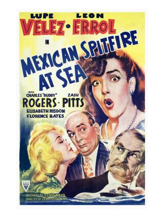 Mexican Spitfire at Sea, Lupe Velez, Marion Martin, Leon Errol, Harry Holman, 1942