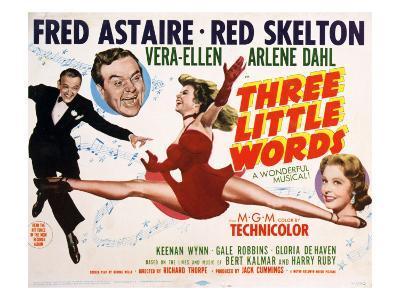 Three Little Words, Fred Astaire, Red Skelton, Vera-Ellen, Arlene Dahl, 1950