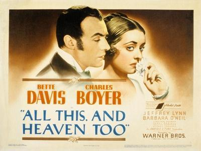 All This and Heaven Too, Charles Boyer, Bette Davis, 1940