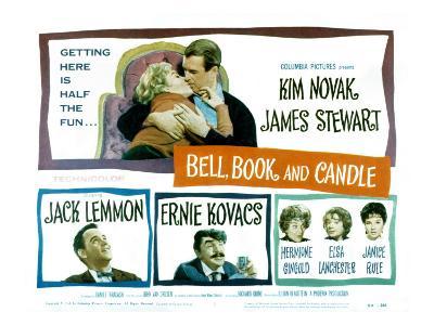 Bell Book and Candle, Kim Novak, James Stewart, Jack Lemmon, Ernie Kovacs, Hermione Gingold, 1958