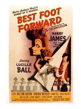 Best Foot Forward, Lucille Ball, Harry James, 1943